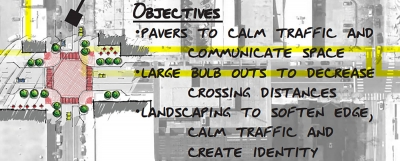 Detail of proposed placemaking elements. Image courtesy of Denver Public Works.