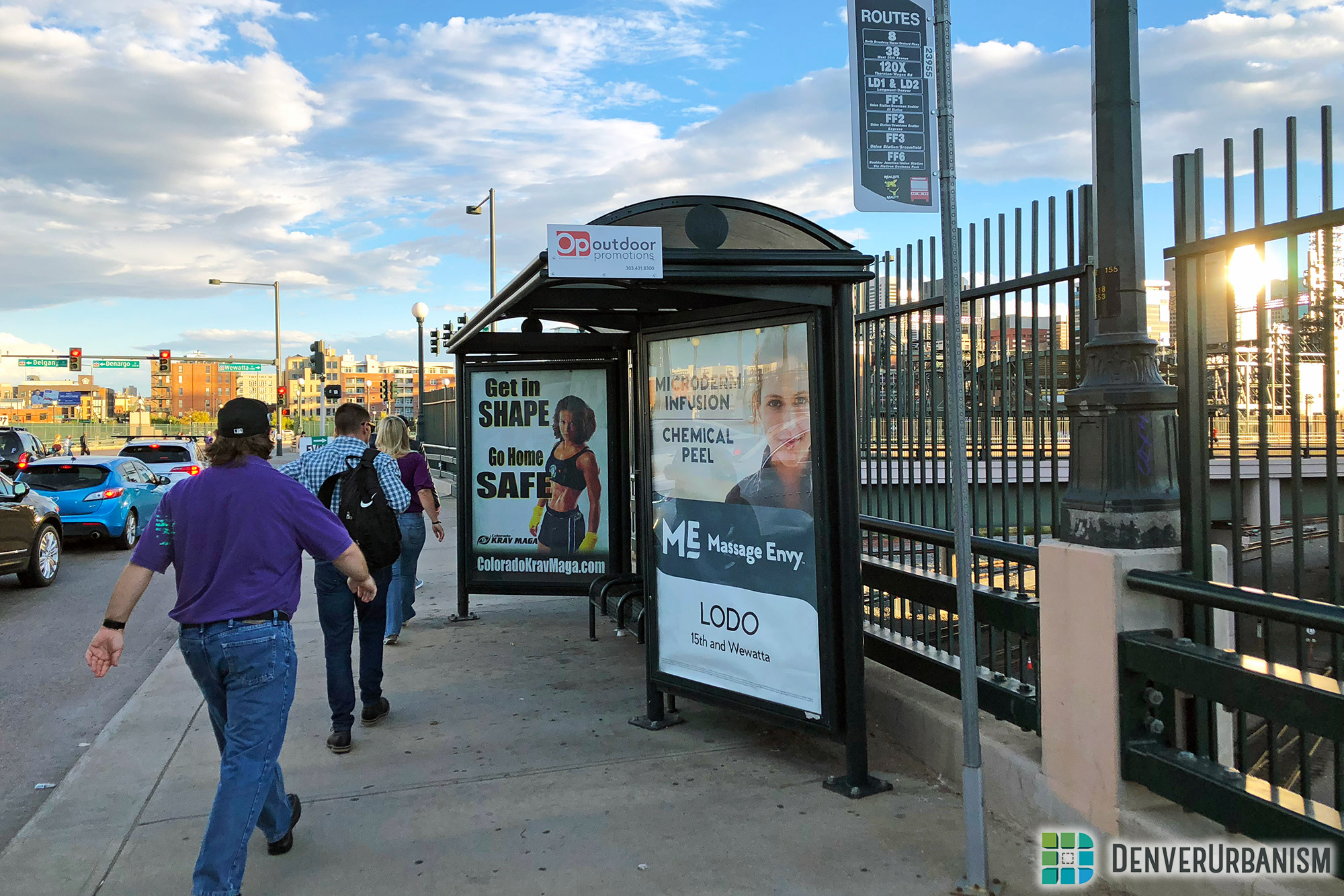 Most of Denver's Bus Stop Shelters Are Maintained by Private Contractors