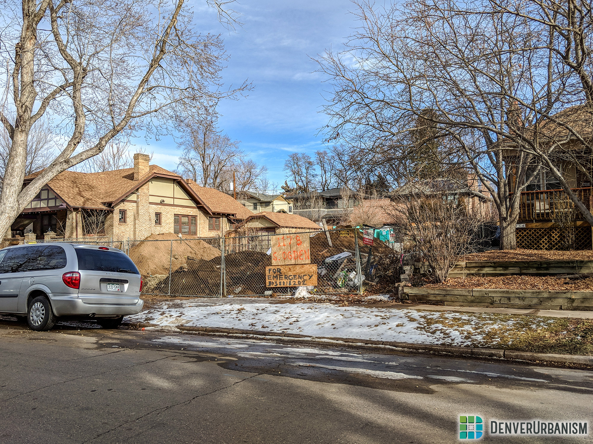 Historic single-family home scraped for most likely a larger single-family home