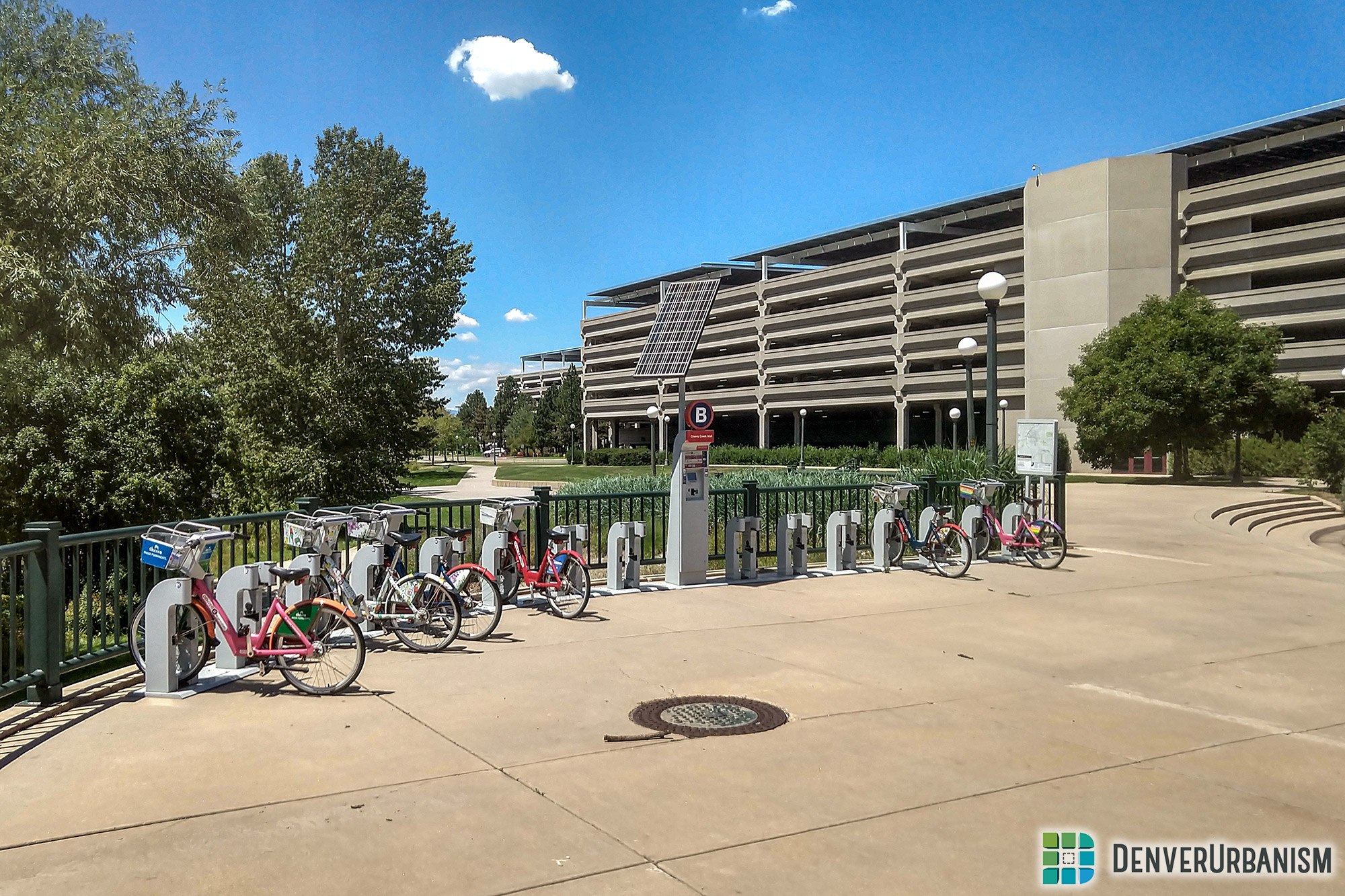 B-Cycle station near the Cherry Creek Mall